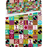DENY Designs Home Accessories   Sharon Turner Patch Girl Sheet Set