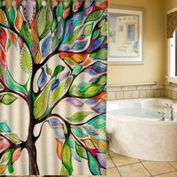 Lovely 3D Polyester Waterproof Beautiful View of Tree of Life Bath Shower Curtain 83201