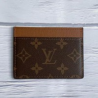 LV Louis Vuitton New Product Printed Letter Card Case Key Bag