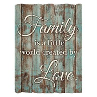 Patton ''Family Is A Little World'' Wall Art