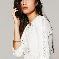 Free People Womens Truly Madly Lace Top