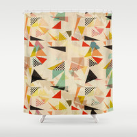 between shapes Shower Curtain by SpinL