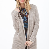 LOVE 21 Open-Front Knit Cardigan
