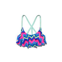 Shop by Style: Flounce Bathing Suit Tops - PINK