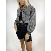 Acid Cropped Jacket
