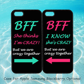 Best Friends BFF in Pairs for iphone 5 case, iphone 4 case, ipod 4, ipod 5, note 2, Samsung S3, Samsung galaxy S4, blackberry z10, q10