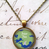 Peter Pan Necklace, Once Upon a Time, Fairy Tales, Tinkerbell, Neverland T269