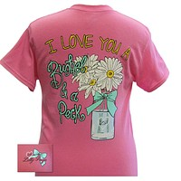 Bjaxx Lilly Paige I Love You a Bushel & a Peck Flowers Girlie  Bright T Shirt