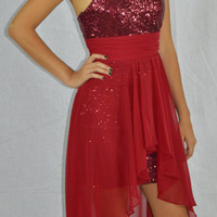 Prom formal high low cocktail dress
