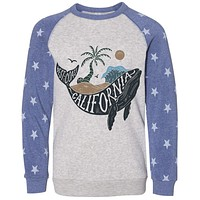 California Whale Stars Youth Sweater