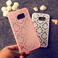 Floral Retro Mobile Phone Skin Case Cover For Samsung Galaxy S6 Edge G9250 G925