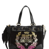 Black Jc Laurel Velour Mini Daydreamer by Juicy Couture, No