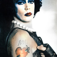 Dr Frank n Furter - Rocky Horror Picture Show - Digital Painting Art Print by William Cuccio Aka WCSmack