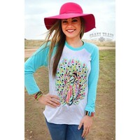Fancy Feathers Tee by Crazy Train Apparel.