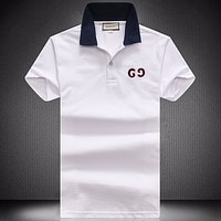 Boys & Men Gucci Fashion Casual Lapel Short Sleeve Shirt Top Tee