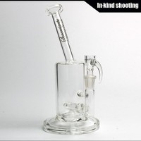 Sovereignty Glass 60mm Bent Neck Stemline 14mm Glass Bongs grid bongs Water Pipes Clear high 25CM bong bubbler waterpipe thick