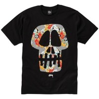 Stussy Skull Flowers T-Shirt - Men's at CCS