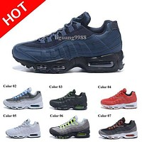 Drop Shipping Hight Quality New Mens Air Sports 95 Running Shoes Black Men best Athletic walking Tennis Shoes Grey Man Training Sneakers
