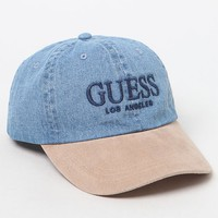 Guess Logo Denim Strapback Dad Hat at PacSun.com