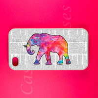 Iphone 4s Case - Colorful Elephant Iphone 4 Case, Vintage Iphone case