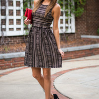 Remember When Dress, Black/Taupe