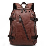 PU Patent Leather  Men's Fashion Backpack & Travel Bags