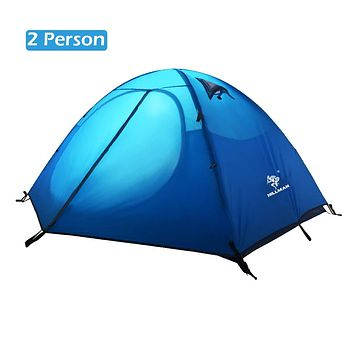 TRIWONDER 2-3 Person Tent for Camping Backpacking Travel, Lightweight Waterproof 3 Season Tent UV Protection with Carry Bag Blue - 2 Person