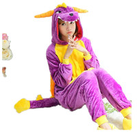 Unisex Adult Pajamas Cosplay Costume Animal Onesuit Sleepwear Suit    Dragon