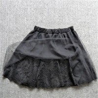 2017 Women Ball Gown Skirt New Above Knee Mini Female Fashion Plus Size Lace short Pleated Mini Skirt 72422