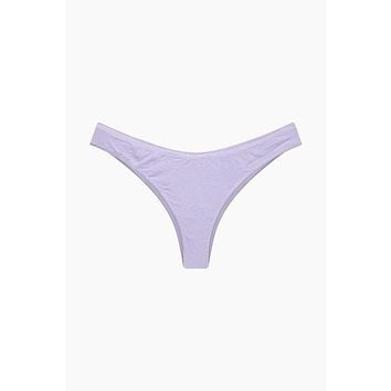 Flynn High Cut Bikini Bottom - Lilac Purple