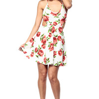 Smell the Roses Cut Out Skater Dress