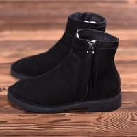 UGG Leather Sneakers Black