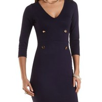 Double-Breasted Bodycon Dress by Charlotte Russe