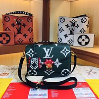 LV Louis Vuitton LV CRAFTY POCHETTE MÉTIS m45385 45384 40780 Women's Tote Bag Handbag Shopping Leather Tote Crossbody Satchel 25.0 x 19.0 x 7.0CM