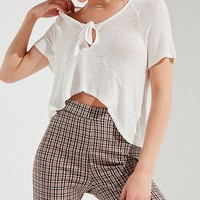 UO Safari Tie-Front Tee | Urban Outfitters