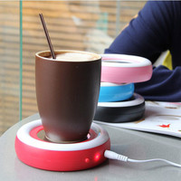 Creative Rainbow USB Cup Warmer Mug Warmer Coaster Home Office Table Mat Milk Tea Coffee Drinks Placemat USB Powered Heater Pad
