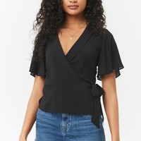 Surplice Wrap Front Top