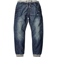 River Island MensMid wash Ryan slouch jogger jeans