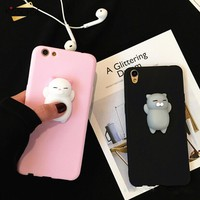 KISSCASE Squishy Cute Cat Phone Cases For iPhone 6 6s 7 Plus 5 5s SE Case 3D Cartoon Lovely Soft Silicone Cover For iPhone 8 7 6