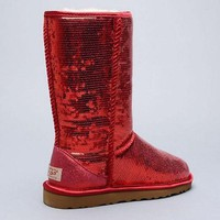 UGG Fashion Red Sequins Ladies Winter Warm Wool Snow Boots I