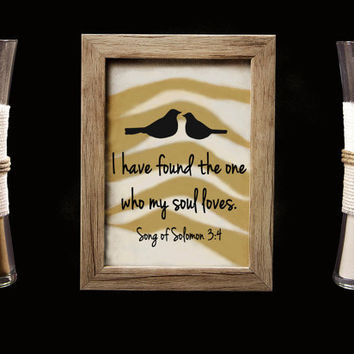 I Have Found the One Who My Soul Loves Rustic Barn Wood Wedding Sand Ceremony Frame Set, Unity Set, Sand Shadow Box Frame