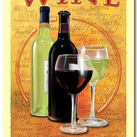 Wine Country Mike Patrick Art Tin Sign: Home & Business Decor with Wall Art Metal Signs RetroPlanet.com