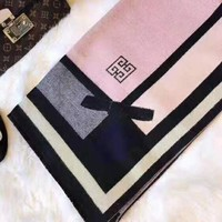 GIVENCHY Autumn Winter Stylish Warm Cape Scarf Scarves Accessories Pink