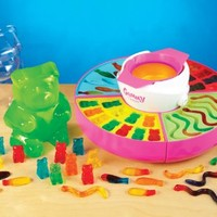 Nostalgia GCM600 Electric Gummy Candy Maker. Includes Gummy Bear, Fish, Worms & Bonus Giant Bear Mold