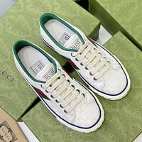 GUCCI Tennis 1977 Embroidered breathable casual sports shoes-2