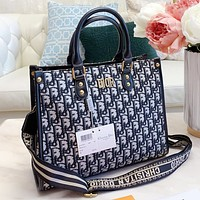 Dior New fashion more letter print leather shopping leisure shoulder bag handbag