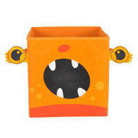 Nuby Orange Monster Folding Storage Bin