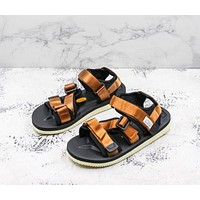 Suicoke Black Brown KISEE-V Vibram Sole Antibacterial Upper Slipper Slider Sandals