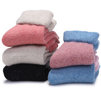 5 pairs / lot 2015 winter warm Thickening of high quality cotton candy color brand name socks for women socks women warm socks