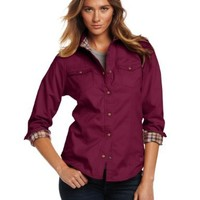 Carhartt Women's Jackson Shirt Twill Flannel Lined Long Sleeve Snap Front